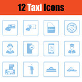 Set of taxy icons Royalty Free Stock Images