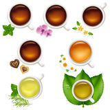 Set Tea Royalty Free Stock Photography