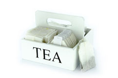 Set of tea bags Royalty Free Stock Photography