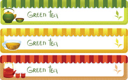 Set of tea banners Royalty Free Stock Image