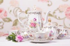 set tea för antikvitet Royaltyfri Fotografi
