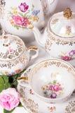 set tea för antikvitet Royaltyfri Foto
