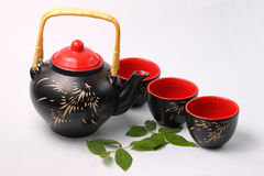 set tea för asiat royaltyfria foton