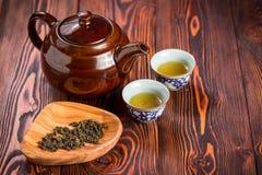 set tea för asiat Arkivbild