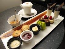 set tea för cappuccino Royaltyfri Fotografi