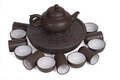 set tea för ceremonikines Royaltyfri Bild