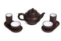 set tea för ceremonikines Arkivbild