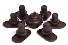 set tea för ceremonikines Arkivfoton