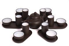 set tea för ceremonikines Arkivfoto
