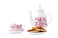 set tea för elegantt porslin Royaltyfri Bild