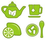 set tea för green Royaltyfria Bilder