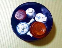 set tea för japan royaltyfri bild