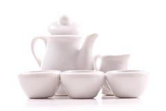 set tea för keramisk miniature Fotografering för Bildbyråer