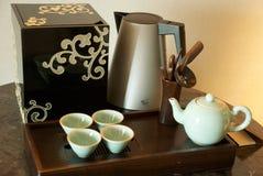 set tea för kines Fotografering för Bildbyråer