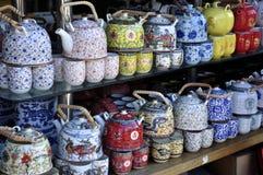 set tea för kinesisk kruka Arkivbilder