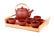 set tea för lera Royaltyfria Bilder