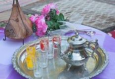 set tea för moroccan Royaltyfri Bild