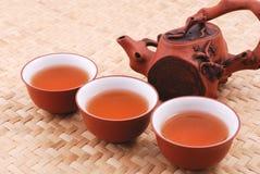 set tea för purpur sand Arkivfoton