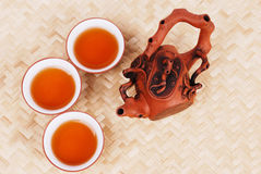 set tea för purpur sand Royaltyfri Bild