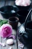 set tea för asiat Arkivbilder