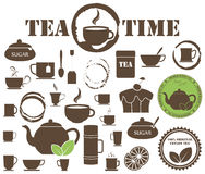 Set of tea icons Royalty Free Stock Image