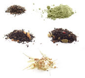 Set of tea and infusions Stock Photography