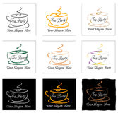 Set of tea party signs Royalty Free Stock Image