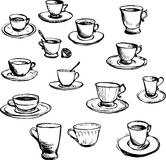 Set of teacups Royalty Free Stock Photography