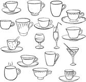 Set of teacups Stock Photo