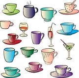 Set of teacups Stock Photos