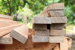 Set of teak wood. For construction building Royalty Free Stock Photography