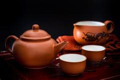 set teapot för kines Fotografering för Bildbyråer