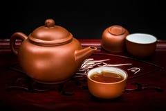 set teapot för kines Arkivfoto