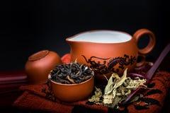 set teapot för kines Arkivbilder