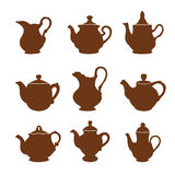 Set of teapot icons Royalty Free Stock Photography