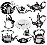 Set of teapots Royalty Free Stock Photography