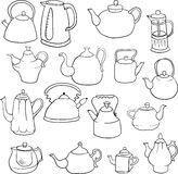 Set of teapots Royalty Free Stock Images