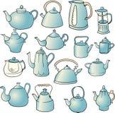 Set of teapots Royalty Free Stock Photos