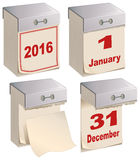 Set Tear-off calendar template Stock Photo