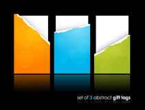 Set of teared gift cards. Stock Images
