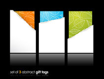 Set of teared gift cards. Royalty Free Stock Photo