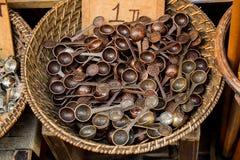 Set of teaspoon made of metal Stock Photos
