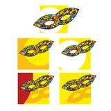 Set teatr maski logowie Obraz Royalty Free