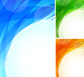 Set of tech backgrounds Stock Photography