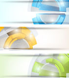 Set of tech banners Royalty Free Stock Photos