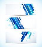 Set of tech banners Stock Images