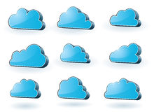 Set of tech clouds Royalty Free Stock Photo