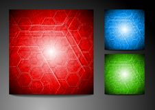 Set of technical backgrounds Royalty Free Stock Images