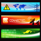 Set of Technological Banners -EPS Vector- Royalty Free Stock Photography