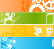 Set of technological clockwork banners stock illustration